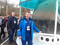 Экскурсионную экспозицию посетил космонавт Блинов О.В.
